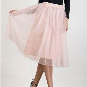 Dresses & Skirts - Tulle Tutu Pink Sheer Dressy Skirt